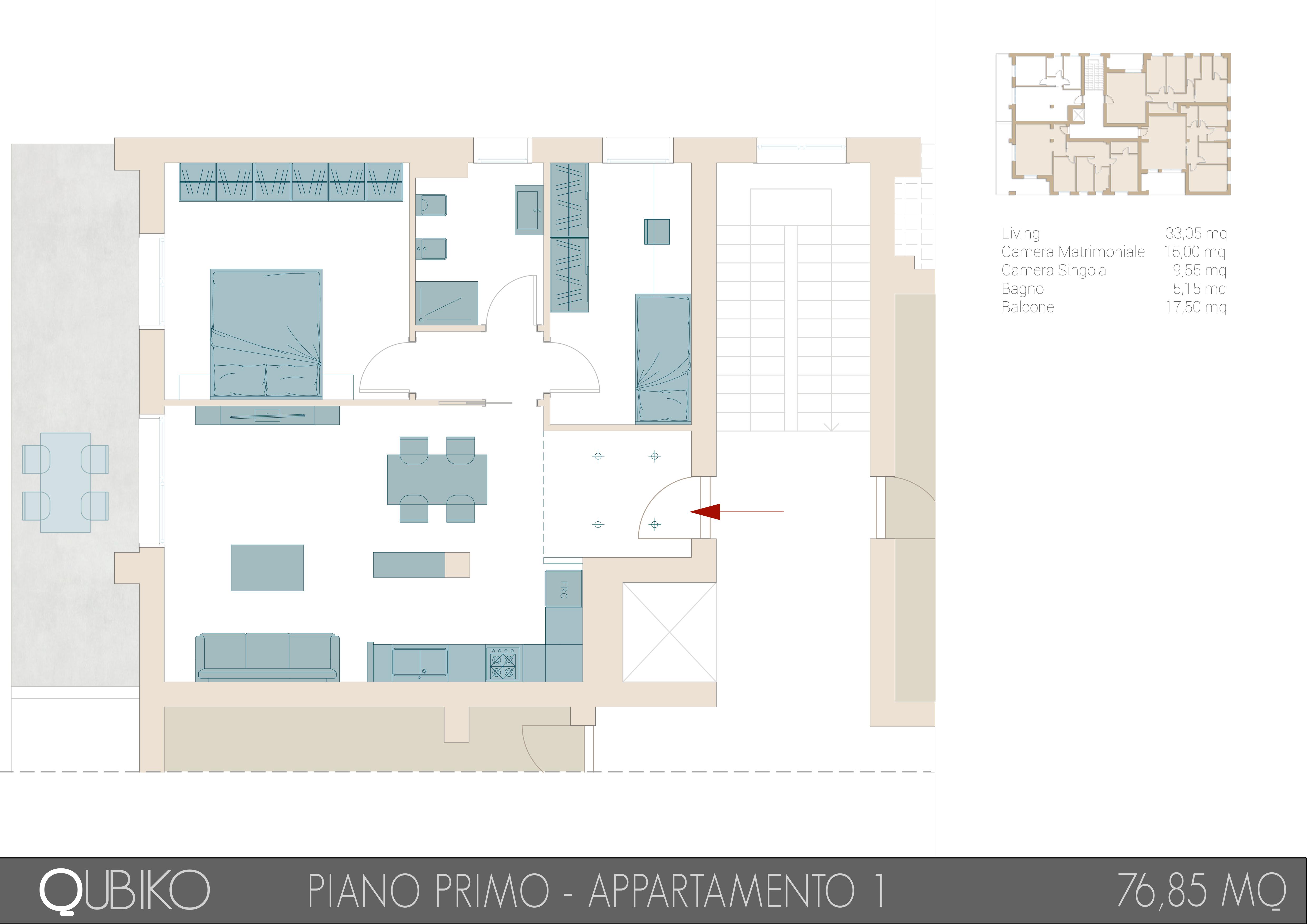 Progetto Bagno 3 Mq qubiko | 3t costruzioni